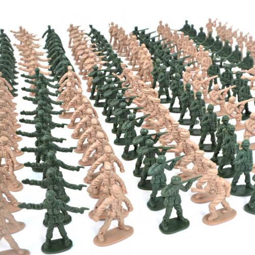 340 Peças De Plástico Militar Soldados de Brinquedo Army Men Green Tan 1:72 Figuras 12 Poses