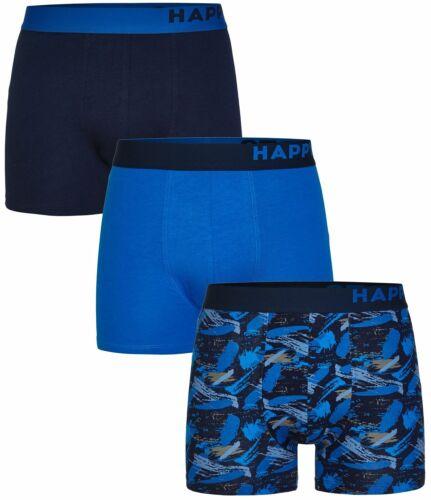 3 Pezzi Happy Shorts Boxershorts Pants Boxer gran Design Moda Nuovo d11