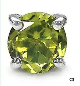 Herrenschmuck-Ohrring-Stecker-Peridot-925-Sterl-Silber-Rhodiniert-0-50-Karat