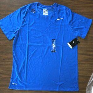 Details about NIKE Men's Dri-FIT Cotton Training Tee Shirt 706625-480 Game  Royal Blue