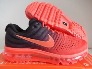 d7ce778b2aca MENS NIKE AIR MAX 2017 BRIGHT CRIMSON RED-TOTAL CRIMSON-BLACK SZ 13 ...