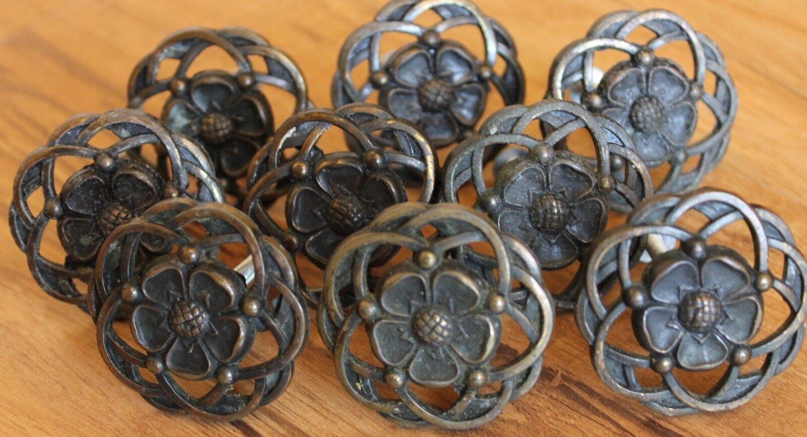 19 Vintage Flower design Knobs