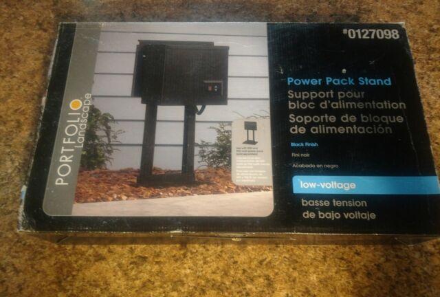 NEW PORTFOLIO Outdoor #0127098 BLack Finish Power Pack Stand