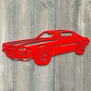 Camaro wall ornament sign CNC metal cut art powder coated