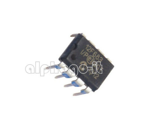 10PCS PIC12F683-I//P PIC12F683 DIP8 MICROCHIP IC MCU FLASH 2KX14 NEW