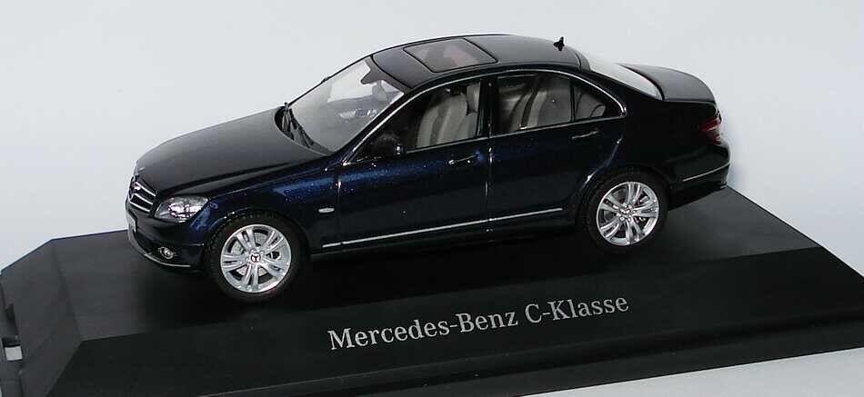 RARE MERCEDES CLASSE C W204 avantgarde tansanite bleu 1 43 Schuco (concessionnaire modèle)