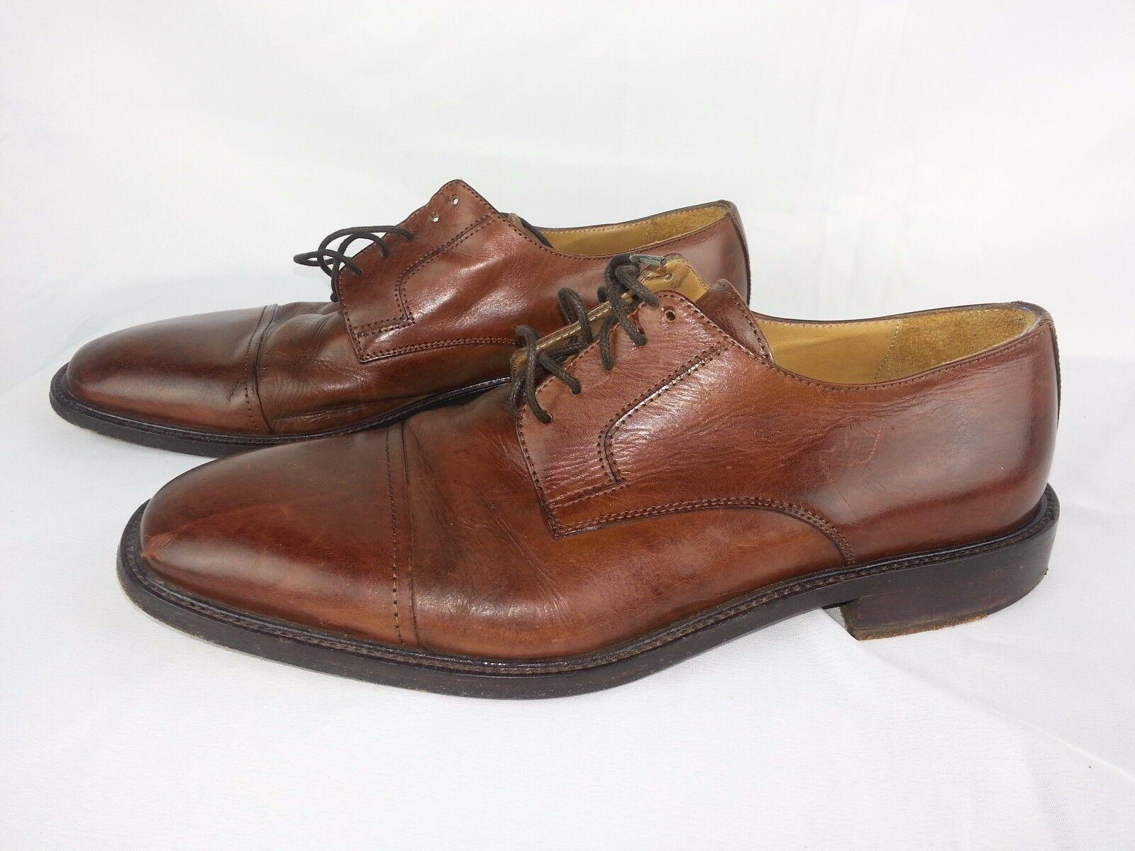J Murphy Men's shoes Size 8.5 M Brown Leather Lace Up shoes Johnston Murphy