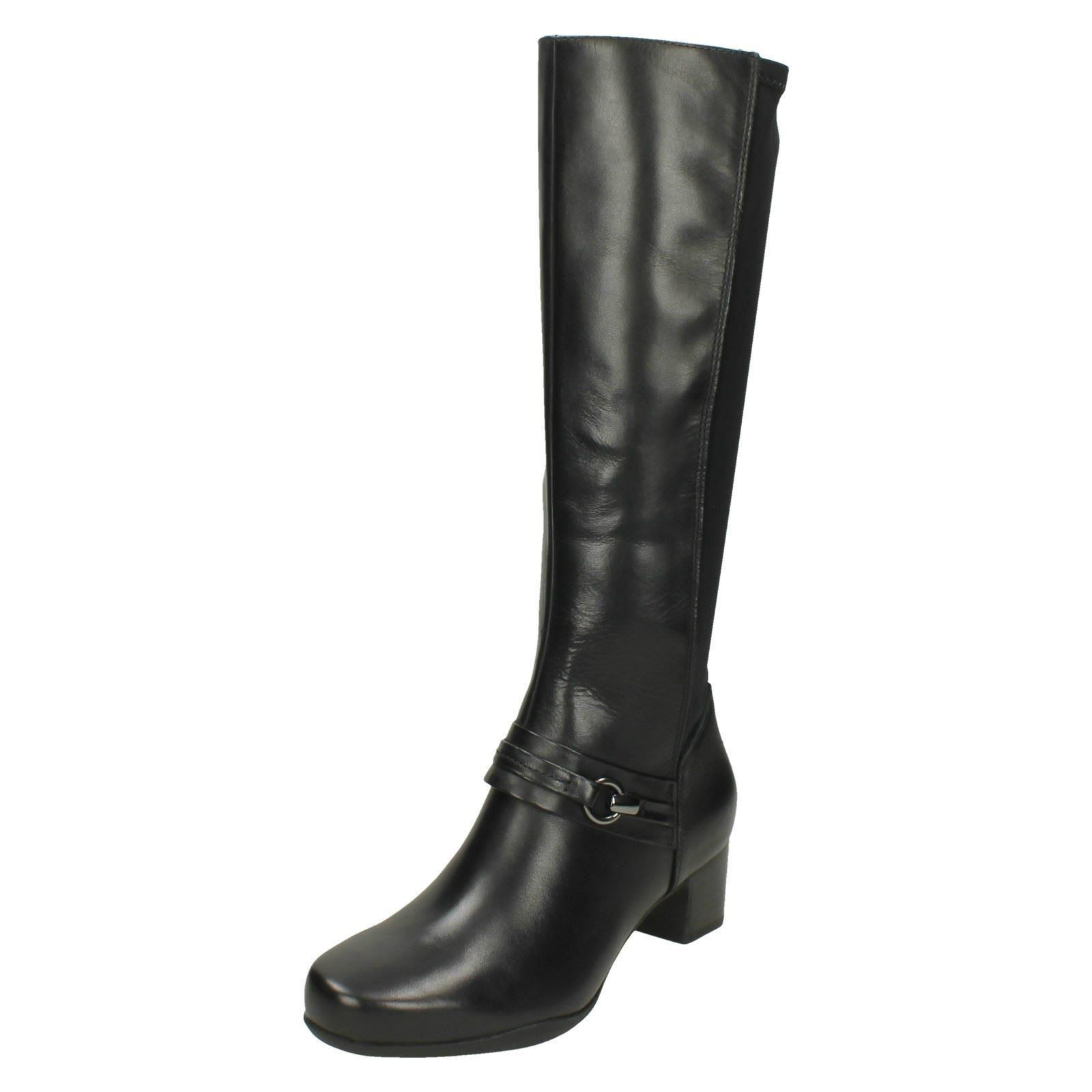 Clarks Clarks Clarks Ladies Long Leather Boots 'Rosalyn Clara' 8df2e7