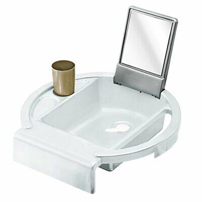 Kiddy Wash Basin White Kids Child Sink Mirror Hang Over Bath Playful Learning Uk