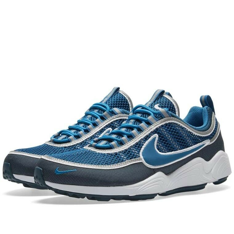 Nike Homme Air Zoom Spiridon 16 Armory Navy, BLUE & WHITE TRAINERS 926955 400