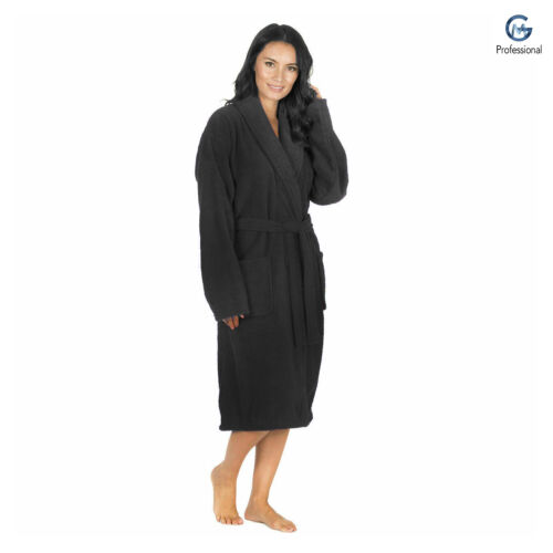 100/% Cotton Terry Towel Bath Robe Hooded Men Women Dressing Gown Unisex Adults