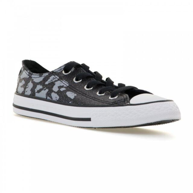 9a5d82b5bba811 Converse Chuck Taylor All Star Animal Print Ox Kids Trainer Shoe ...
