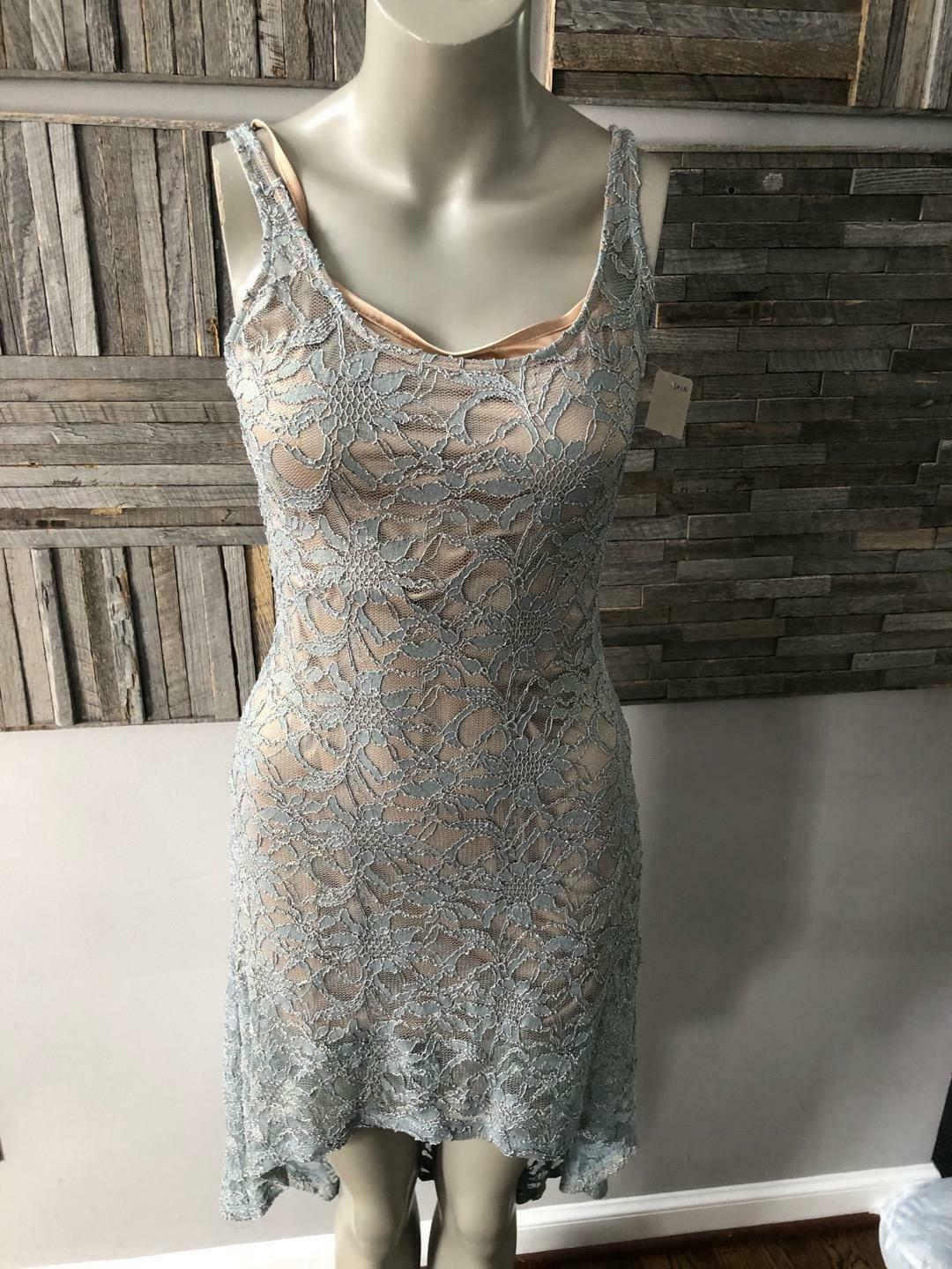 New With Tags Alberto Makali Lace Dress High Low Must Have