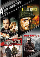 Bridges At Toko-Ri, Hell is for Hero's, Enemy At The Gates, Defiance - New DVD