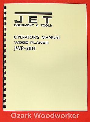 "JET//Asian  JWP-15HO 15/"" Wood Planer Operator/'s /& Parts Manual 0387"