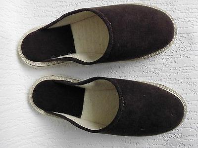 FILZ Pantoffeln - Hausschuhe, Gr.40,5 WOLLFILZ, Braun, aus Oberschlesien (07)