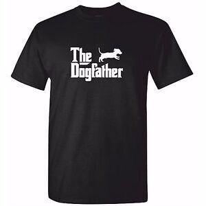 ac70accb Mens Dachshund TShirt - The DOG FATHER Sausage Dog T Shirt Funny ...