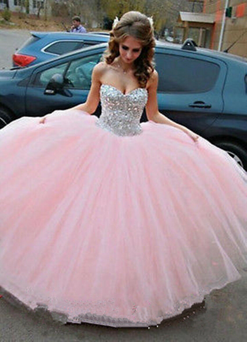 Pink Quinceanera Dress Ball Gown Prom Party Formal Pageant Dresses Size2+4++++16