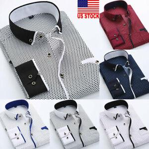 US-Fashion-Mens-Luxury-Stylish-Casual-Dress-Slim-Fit-T-Shirt-Casual-Long-Sleeve