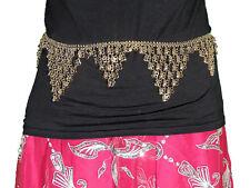 Belly Dancing Coin Belt - Women's Gold Chain Metallic Dance Wear Accessory