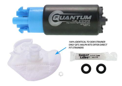 QUANTUM 340LPH Compact 65 mm Pompa Carburante /& Installare Kit Fit SUBARU WRX STI 2008-14