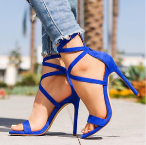 Womens-Sandals-Strappy-High-Heel-Peep-Toe-Summer-Formal-Casual-Evening-Stiletto