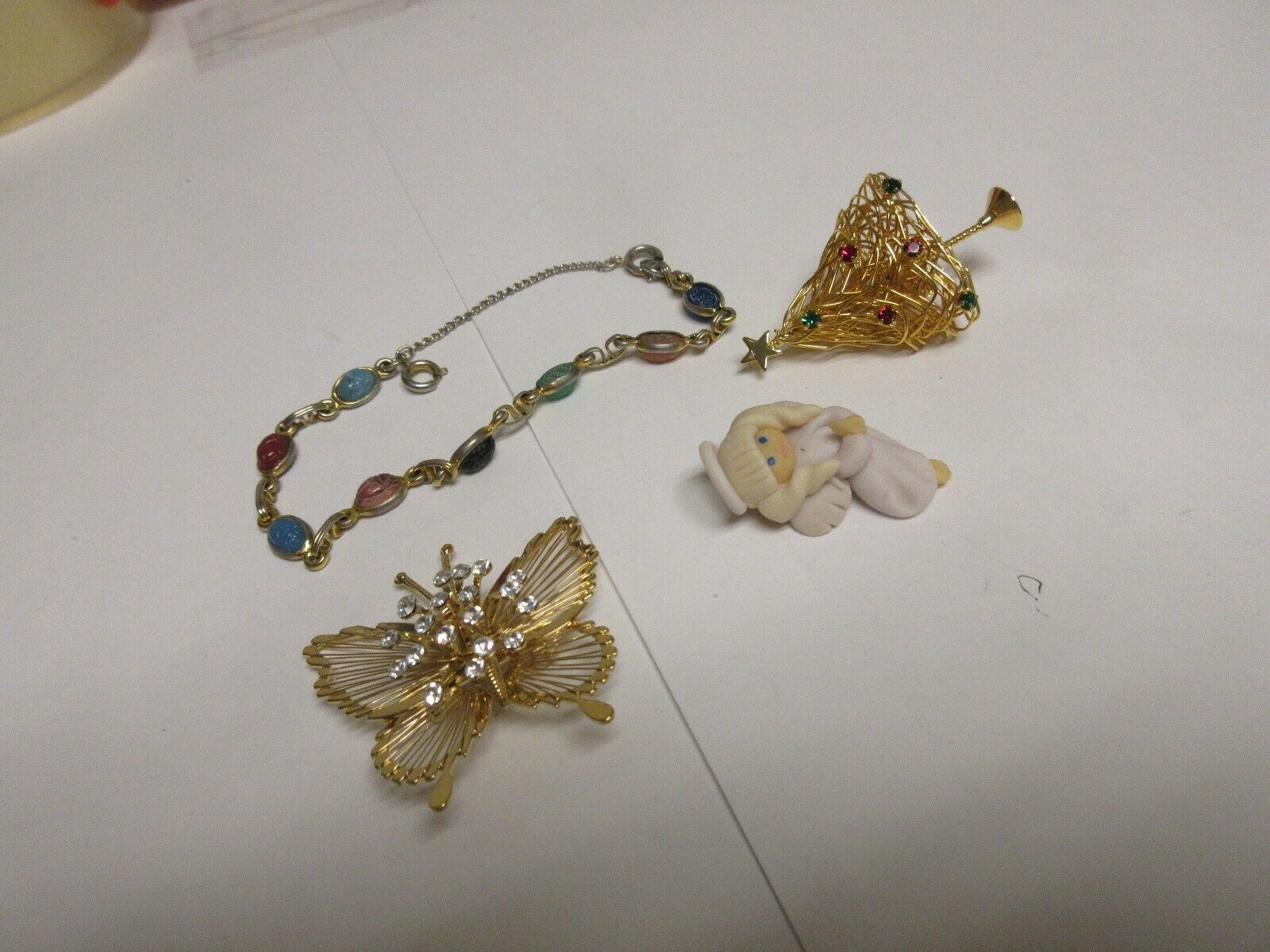 Costume Jewelry ,Vintage , Butterfly , Tree , Angel, Pi