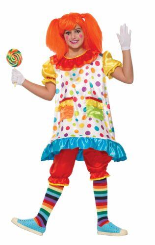 Wiggles The Clown Costume Hoop Fancy Dress Child Girls Polka Dots SM-MD-LG