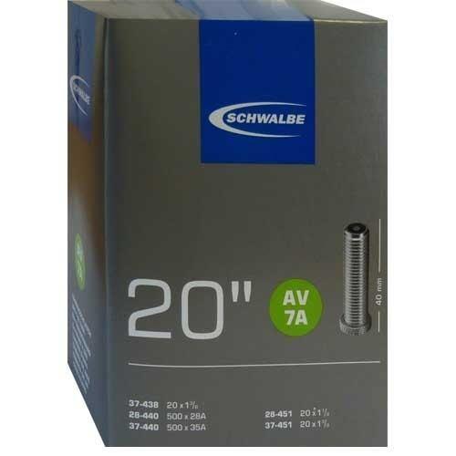 Schwalbe AV 7A Fahrrad Schlauch 20″ //// 20x1 1//8-1 3//8″ 28//37-438//451 AV40mm