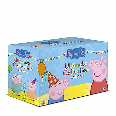 "PEPPA PIG THE ULTIMATE COLLECTION 20 DISCS DVD BOX SET ""NEW&SEALED"""