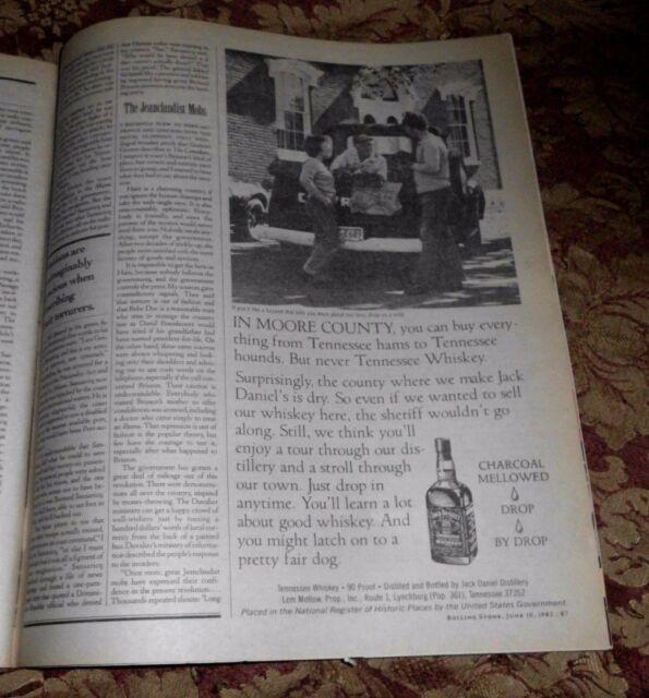 1982 Near Mint Print Ad Poster Jack Daniels In Moore ...