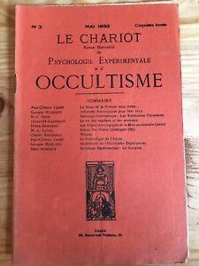 Le-Chariot-n-3-1933-revue-Occultisme-Astrologie-Philosophie-Onomantique-Notules