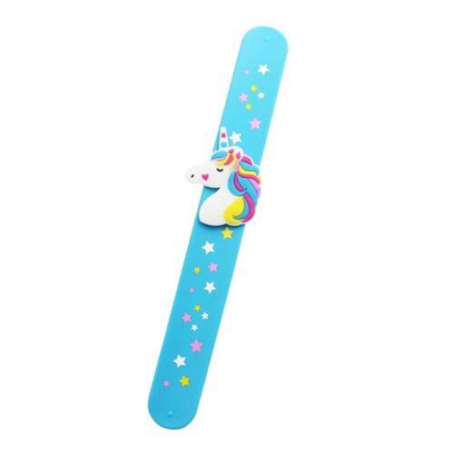 Creative Unicorn Slap Snap Wrap Wristband Flexible Band Bracelet Hand Ring Kids