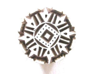 Indischer Holz Stempel Ornament rund Textilstempel Nr 1502