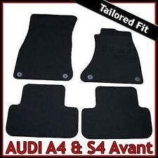 Audi A4 Estate Avant B8 2008-2015 Tailored Fitted Carpet Car Floor Mats BLACK
