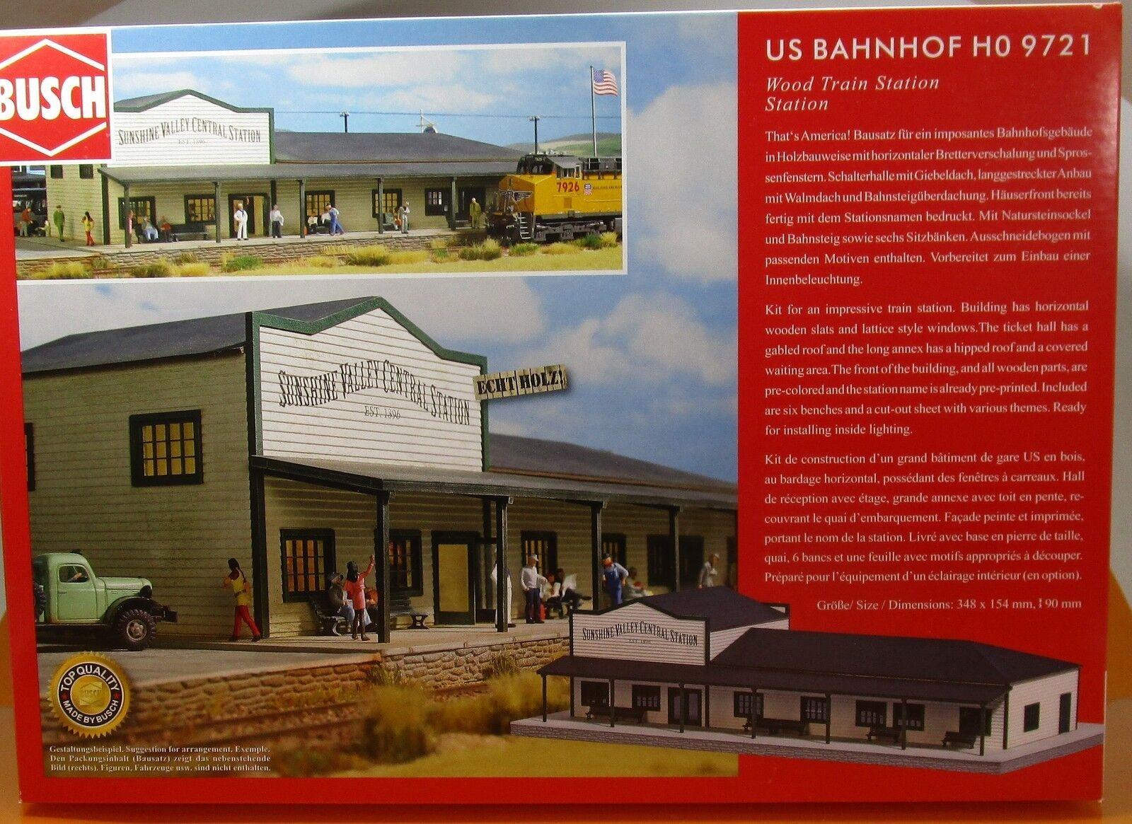 Busch 9721 KIT US stazione ferroviaria h0 AMERICA USA Scale 1 87 NUOVO OVP