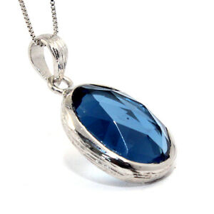 GENUINE-NATURAL-IOLITE-WATER-SAPPHIRE-8-5CT-925-STERLING-SILVER-PENDANT-NECKLACE