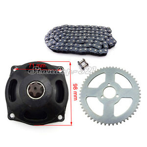 D DOLITY T8F 54T 54 Tooth Rear Sprocket Chain Drive Gear Box fit for 49cc Mini Small Sports Pocket Bike 2 Stroke Motorcycle Scooter