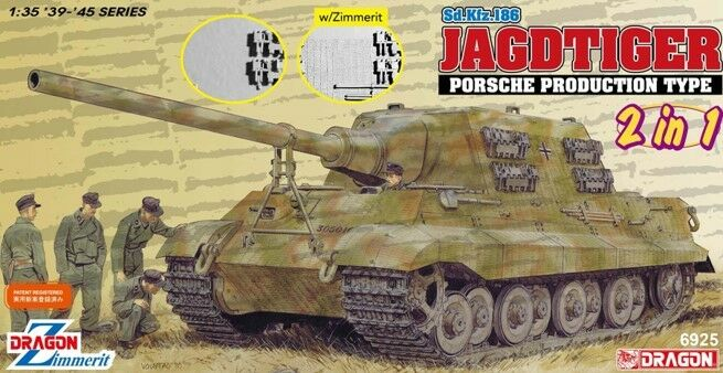 Jagdtiger Porsche Type 2 In 1 Kit DRAGON 1 35 DR6925