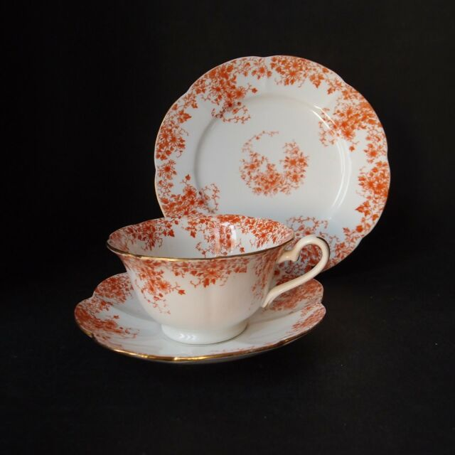 Foley Wileman pre Shelley Trio 5657 Fluted Shape Cup Saucer Plate - Antique 1886