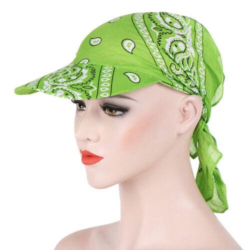 Women Wide Brim Sun Hat Scarf Cap Chemo Hijab Turban Head Wrap Scarf Cover ZXJ