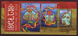 ISLA-DE-MAN-2014-SEDA-PINTORES-HOJA-MINIATURA-CON-PASPARTU-NUEVO