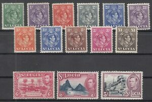 C2911-BRITISH-ST-LUCIA-GVI-1938-1948-MINT-MH-LOT-CV-125