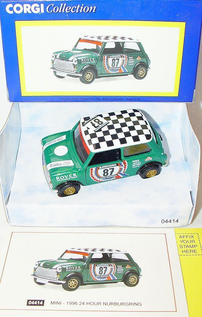 Corgi Toys 1 36 MORRIS MINI COOPER  24 HOUR NURBURGRING  Model Car MIB`97 RARE