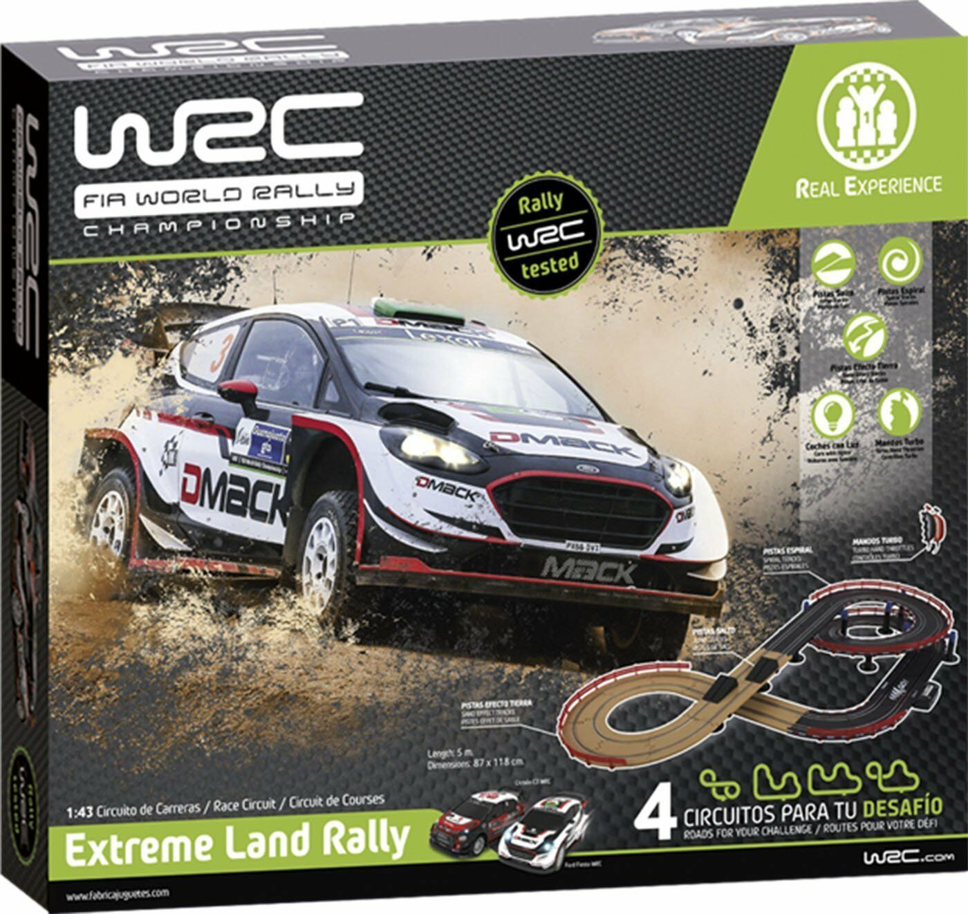 Fabricating of Toys 91001. Circuit scale 1 43 WRC Extreme Land Rally