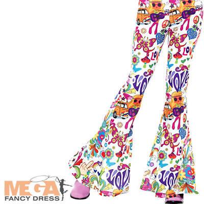 Compiacente Groovy Svasato Pantaloni Donna Costume 70s 60s Hippie Adulto Costume Accessorio-mostra Il Titolo Originale