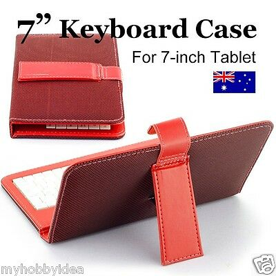 """7"""" Keypad Keyboard Leather Case 4 Android Tablet PC ALDI  KMART ONIX Pendo"""