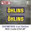 Sticker-Vinilo-Decal-Vinyl-Aufkleber-Adesivi-Autocollant-Ohlins-Suspension-AZOSS miniatura 5