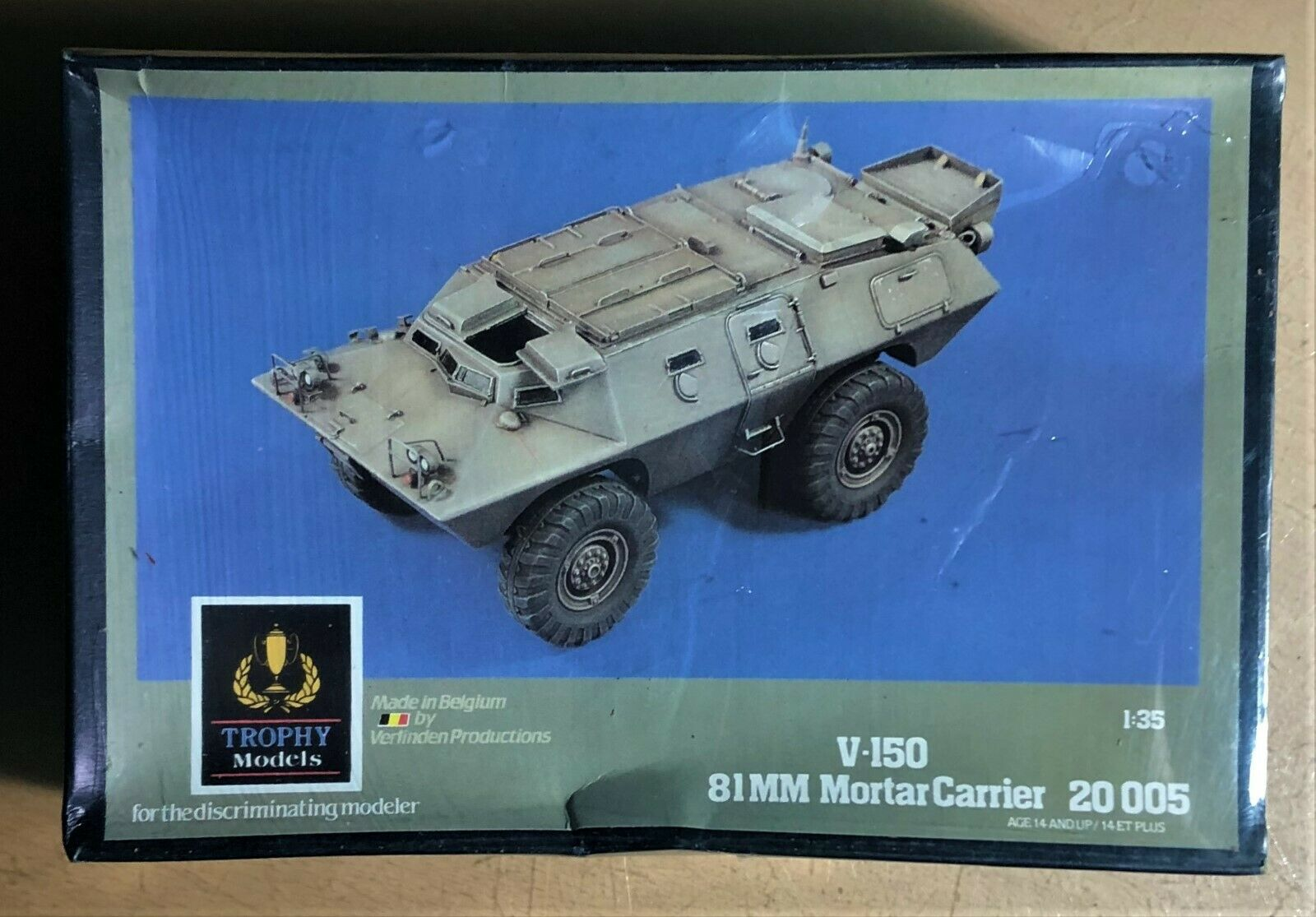 TROPHY MODELS (VERLINDEN) 20005 - V-150 81mm MORTAR CARRIER - 1 35 RESIN KIT