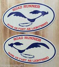 2er Retro Aufkleber Sticker Roadrunner Ratrod Auto Rod Oldschool Biker Tuning